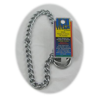 Coastal Titan Chrome Steel Dog Choke Chain Heavy 18 inch Click for larger image