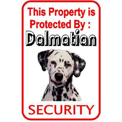 Sign Dalmatian Security inch Aluminum