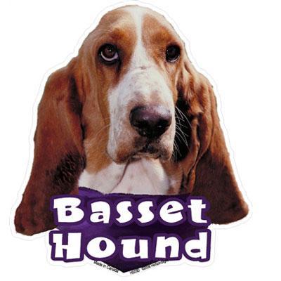 6-inch Vinyl Dog Decal Basset Hound Picture