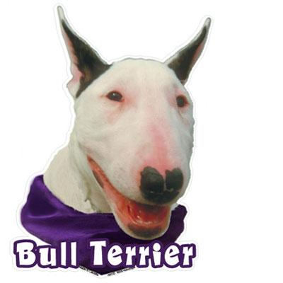 6-inch Vinyl Dog Decal Bull Terrier Picture