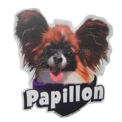 6-inch Vinyl Dog Decal Papillon Picture