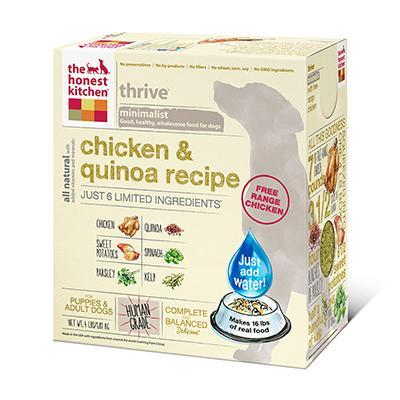 Honest Kitchen Thrive Dehydrated RAW Dog Food 4 lb