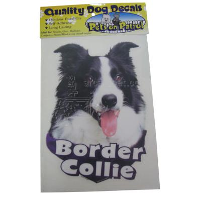 6-inch Vinyl Dog Border Collie Decal Picture