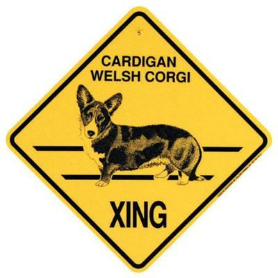 Xing Sign Cardigan Welsh Corgi Plastic 10.5 x 10.5 inches