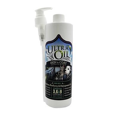 Ultra Oil Hemp Pet Skin & Coat Supplement 16 oz. Click for larger image