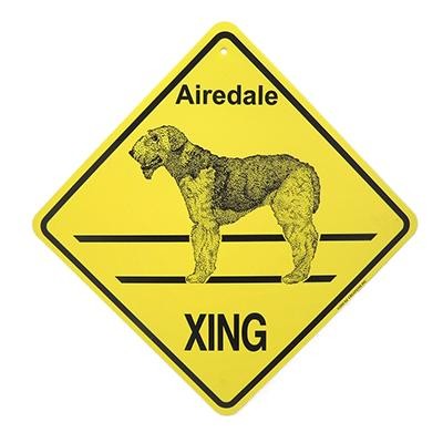 Xing Sign Airedale Plastic 10.5 x 10.5 inches