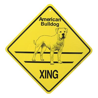 Xing Sign American Bulldog Plastic 10.5 x 10.5 inches