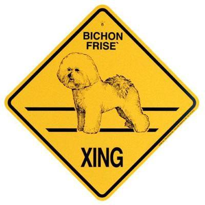 Xing Sign Bichon Frise Plastic 10.5 x 10.5 inches Click for larger image