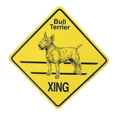 Xing Sign Bull Terrier Plastic 10.5 x 10.5 inches Click for larger image