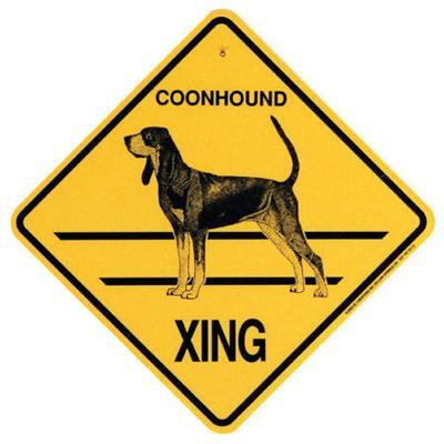 Xing Sign Coonhound Plastic 10.5 x 10.5 inches