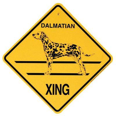 Xing Sign Dalmatian Plastic 10.5 x 10.5 inches