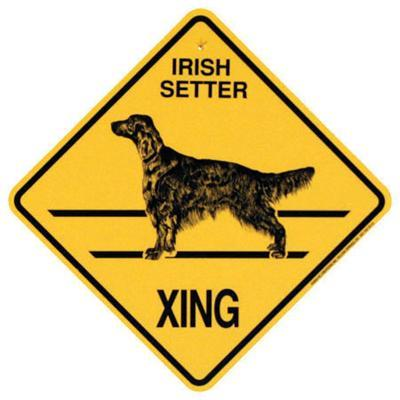 Xing Sign Irish Setter Plastic 10.5 x 10.5 inches
