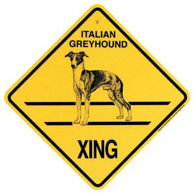Xing Sign Italian Greyhound Plastic 10.5 x 10.5 inches