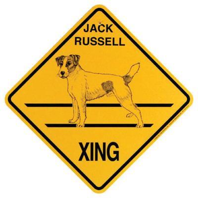 Xing Sign Jack Russell Plastic 10.5 x 10.5 inches