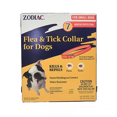 Zodiac Flea and Tick Collar 7 month Small Dog