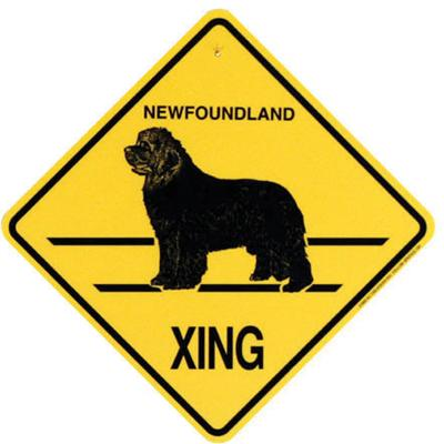 Xing Sign Newfoundland Plastic 10.5 x 10.5 inches Click for larger image
