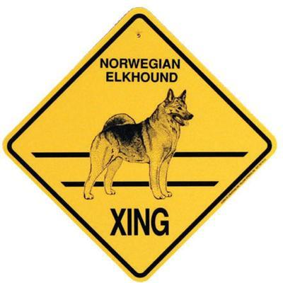 Xing Sign Norwegian Elkhound Plastic 10.5 x 10.5 inches
