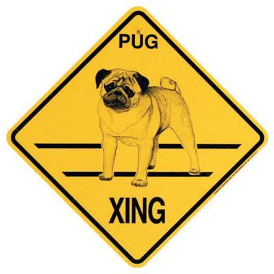 Xing Sign Pug Plastic 10.5 x 10.5 inches