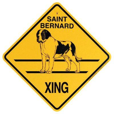 Xing Sign Saint Bernard Plastic 10.5 x 10.5 inches