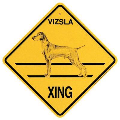 Xing Sign Vizsla Plastic 10.5 x 10.5 inches