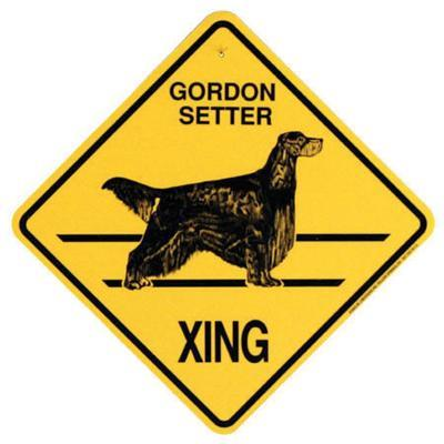 Xing Sign Gordon Setter Plastic 10.5 x 10.5 inches Click for larger image