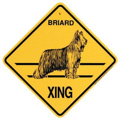 Crossing Sign Briard Xing Click for larger image