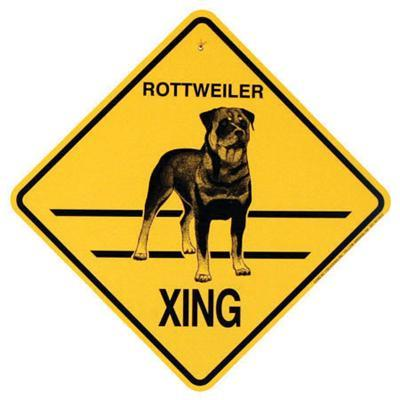 Xing Sign Rottweiler Plastic 10.5 x 10.5 inches