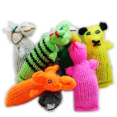 Barn Yarn Hand Knit Wool Cat Toy with Catnip