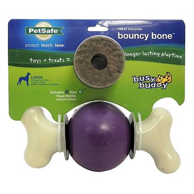 Busy Buddy Bouncy Bone Large Treat Dispensing Dog Toy