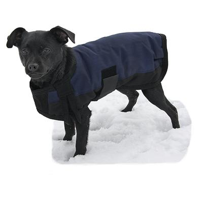 Dog Winter Blanket Coat Navy Med