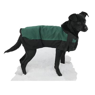 Winter Dog Blanket Coat Green Lg