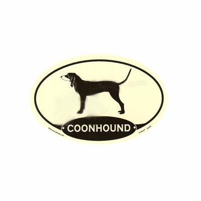 Euro Style Oval Dog Decal Coonhoud