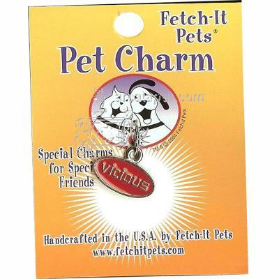 Pet Tag Collar Charm Vicious Click for larger image