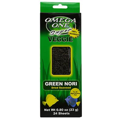 Omega One Super Veggie Green Seaweed Fish Food 24ct. Click for larger image