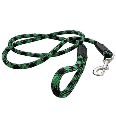Reflective Rope Dog Lead Green