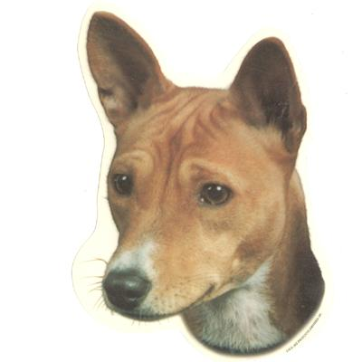 Double Sided Dog Decal Basenji