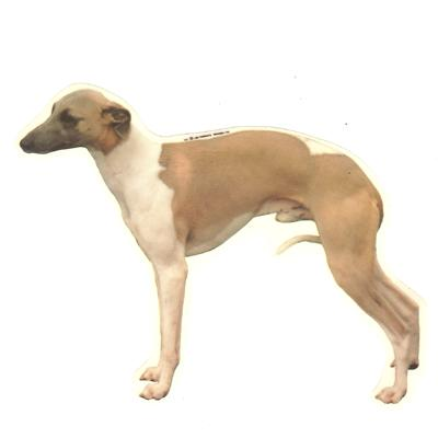 Double Sided Dog Decal Whippet Standing