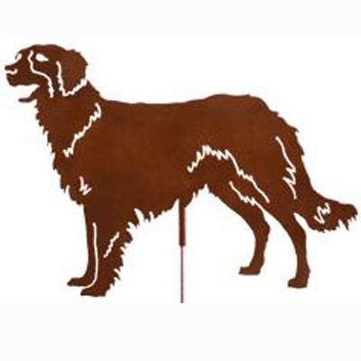 Haute Steel Garden Stake Border Collie