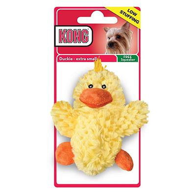 KONG Low Stuffing Duckie XSmall Dog Toy Click for larger image