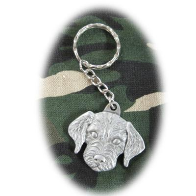 Pewter Key Chain I Love My Labradoodle