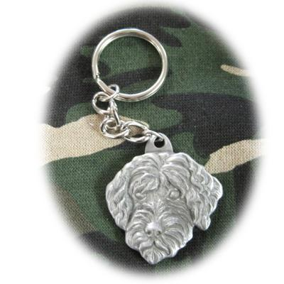 Pewter Key Chain I Love My Portuguese Water Dog Click for larger image