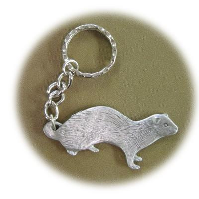 Pewter Key Chain I Love My Ferret