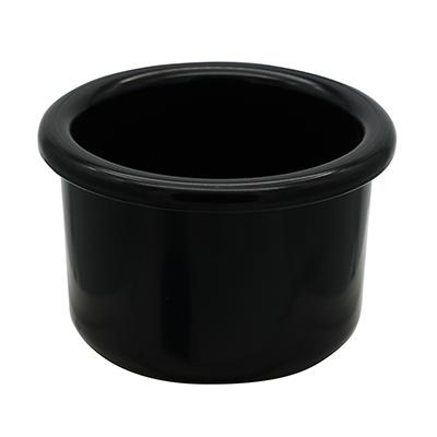 Crock-Style Plastic Bird Dish Black 8 oz 3.75-inch Click for larger image