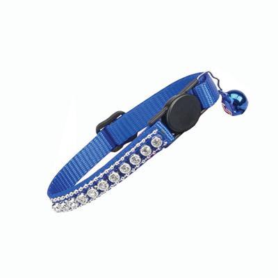 Cat Collar Rhinestones Blue