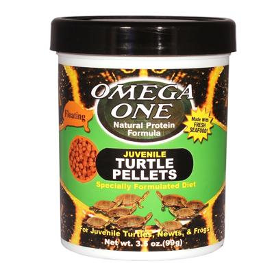 Omega One Juvenile Floating Turtle Pellets 3.5oz Click for larger image