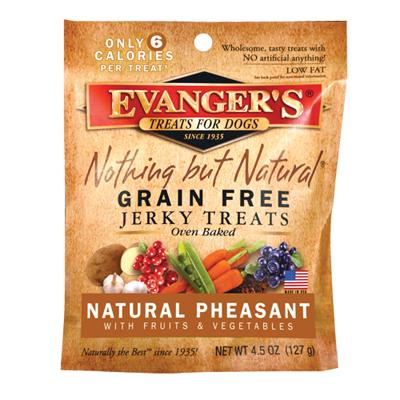 Evangers Nothing But Natural Pheasant Jerky 4.5 oz Dog Treat