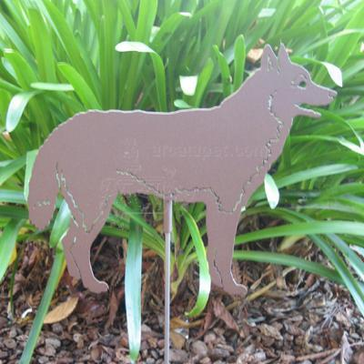 Haute Steel Garden Stake Siberian Husky