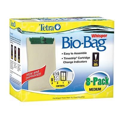 Whisper Aquarium Power Filter Bio-Bag Med. 8-pack