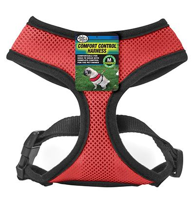 Comfort Control Dog Harness Red Medium