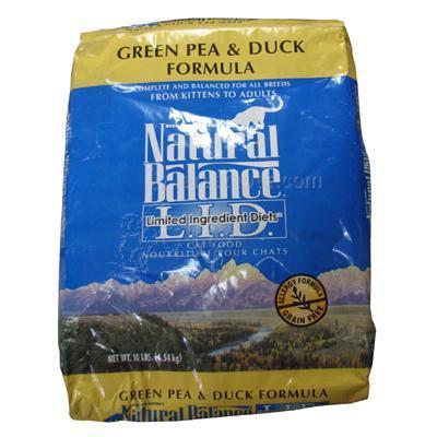 Natural Balance Green Pea & Duck Cat Food 10lb